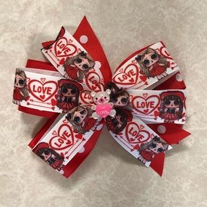 Lol Red Hair Bow